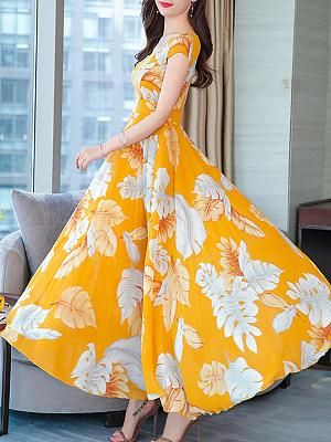 Berrylook Boat Neck Floral Printed Maxi Dress shoping, shoppers stop, Empire Maxi Dresses, long formal dresses, shirt dress
