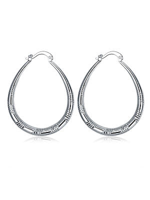 Berrylook coupon: Vintage U Shape Faux Sliver Earrings For Women