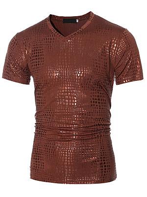 Sparkling Men V-Neck Plain T-Shirt