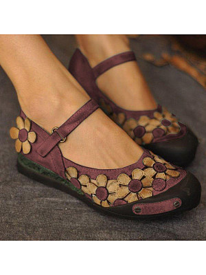 Color Block Flat Round Toe Date Travel Flat & Loafers, 7258287