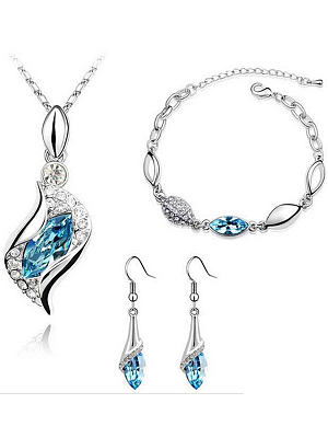 Imitated Crystal Elegant Jewelry Sets For Women фото