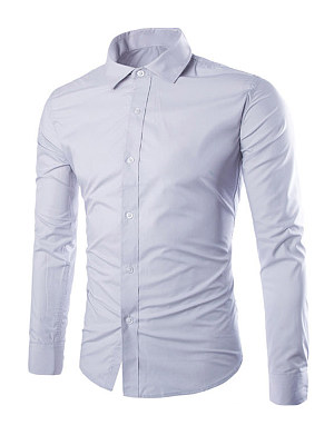 Formal Office Basic Plain Men Shirt, 3373612