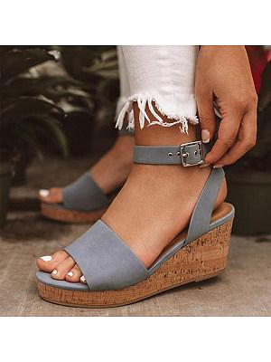 Plain Velvet Peep Toe Date Wedge Sandals фото