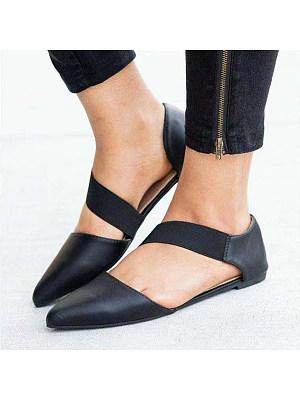 Flat Velvet  Point Toe Date Office Flat Sandals