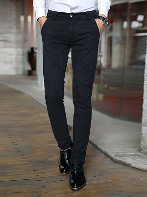 Office Pocket Slim-Leg Men's Casual Pants