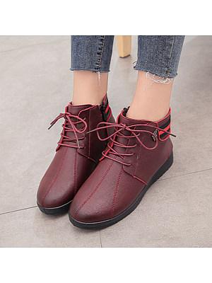 Plain Round Toe Boots, 9429648