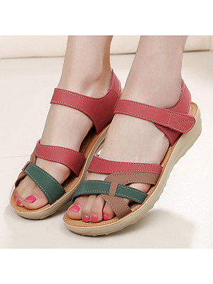 Cartoon Low Heeled Ankle Strap Peep Toe Casual Date Sandals, 4635783