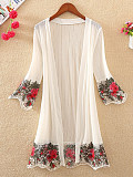 Embroidered Embroidery Elegant Cardigans S -M -L -XL -2XL