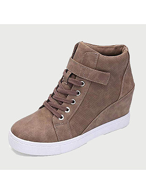Plain Round Toe Sneakers, 9100614