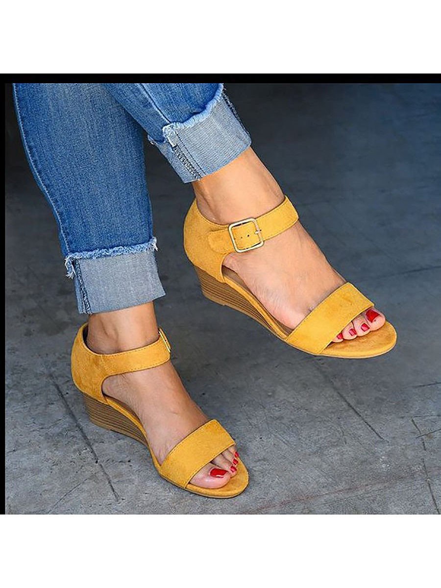 Fashion High Heel Buckle Sandals