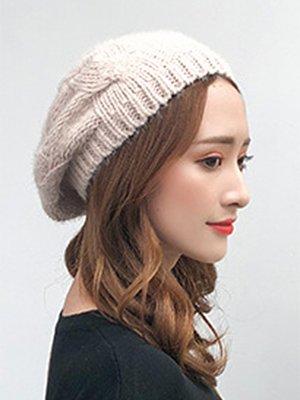Berrylook coupon: Fashion Beret Plain Chamois Hats For Lady