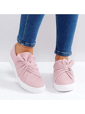 Flat Round Toe Casual Sneakers, 6555605