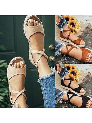 Plain Flat Velvet Peep Toe Casual Date Flat Sandals, 6153061
