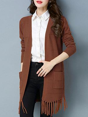Medium Elegant Plain Long Sleeve Knit Cardigan, 9848708