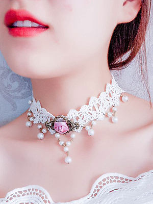 Berrylook coupon: Romantic White Lace Chic Chokcer For Women