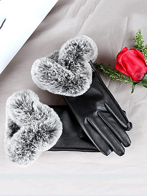 Soft Thick Patchwork Gloves, 5805966