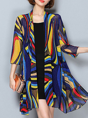Patchwork Color Block Textured Cardigans