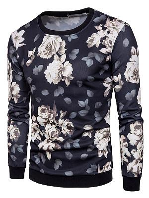 Men Floral Printed Round Neck Sweatshirt фото