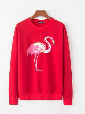 Casual  Printed  Long Sleeve Sweatshirts