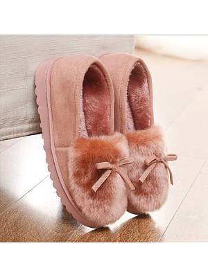 Plain  Flat  Velvet  Round Toe  Casual  Ankle Flat Boots