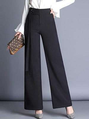 Office Black High-Rise Wide-Leg Pants, 3976000