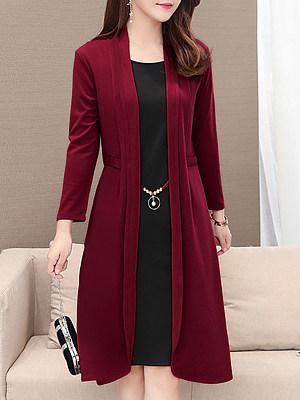 Round Neck Color Block Shift Dress, 5182592