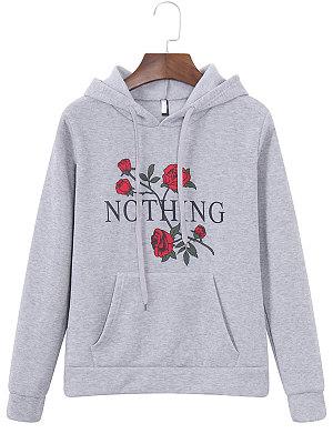 Hooded  Floral Printed Hoodie