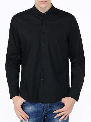 Solid Patch Pocket Men Shirts