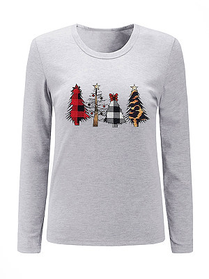 Casual Printed Long Sleeve Hoodies & Sweatshirt фото