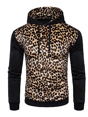 Stylish Leopard Men Hoodie