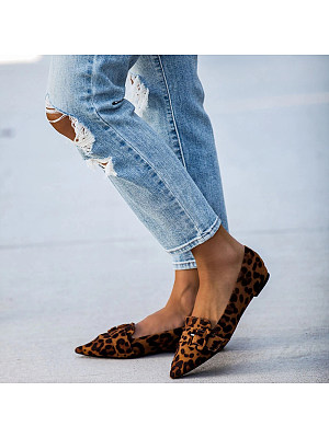Casual Pointed Toes Flat Single Shoes, 8453726