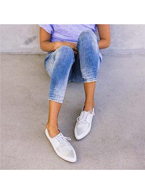 Women's Fashion Lace-Up Flat Shoes, 8384412