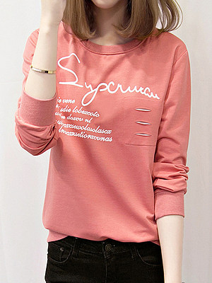 Printed long sleeve sweatshirt фото