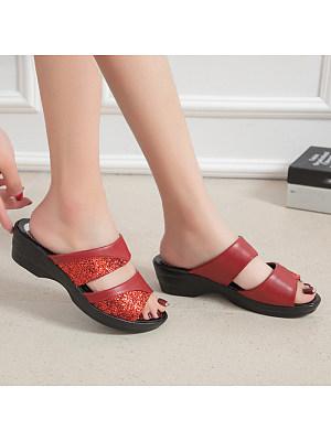 Flip-flops slip-on platform slippers