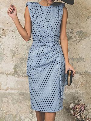 Berrylook Women Elegant Dot Sleeveless Dress online, clothes shopping near me, red dress, floral dresses
