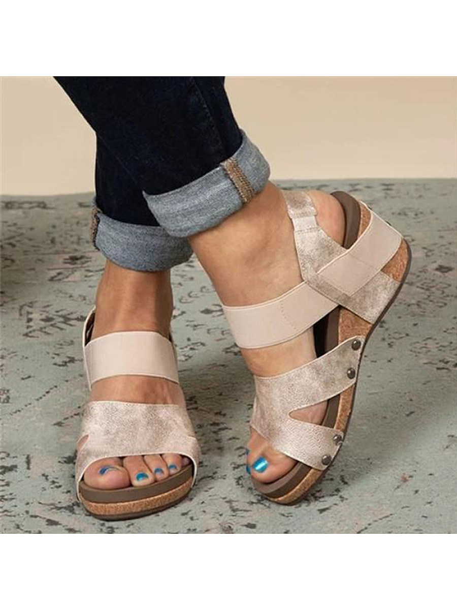 BerryLook Platform Wedge Sandals