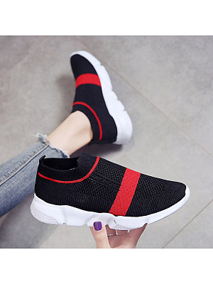 Color Matching Breathable Women Casual Sneakers, 10966372