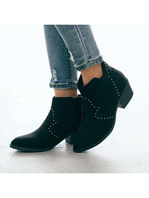 Women's Fashion Round Toe Booties, 10503963