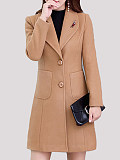 Image of Plus Size Wool Over The Knee Coat