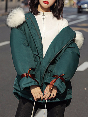 Women's fashion solid color down Coat gender:female, season:autumn,winter, texture:polyester, sleeve_length:long sleeve, sleeve_type:regular sleeve, style:japanese and korean style, collar_type:hat collar, dress_occasion:daily, bust:128,clothing length:79,shoulder width:60,