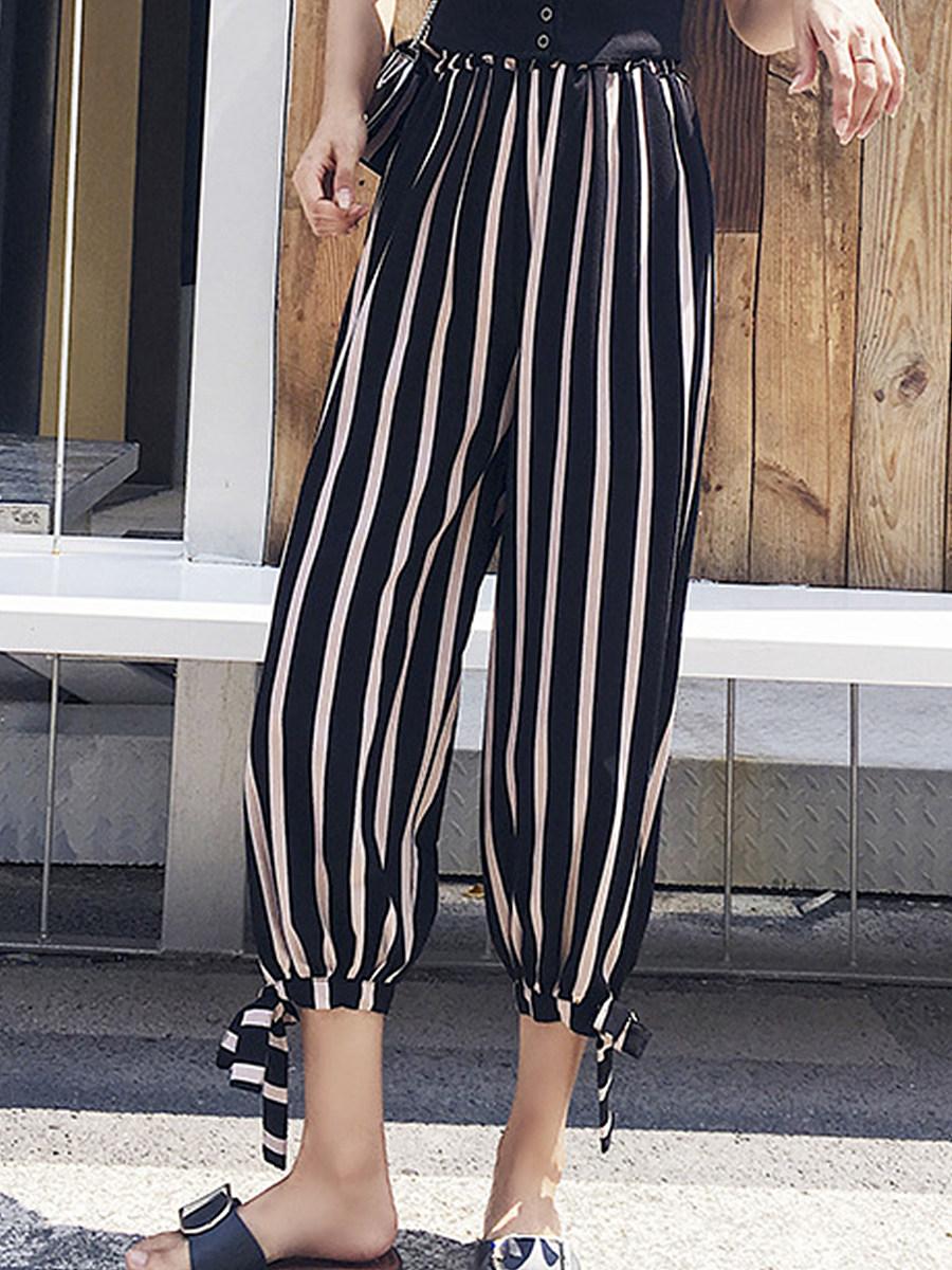 High-waisted a-line trousers