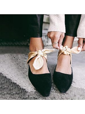 Pointed toe sandals with bows, 11381274