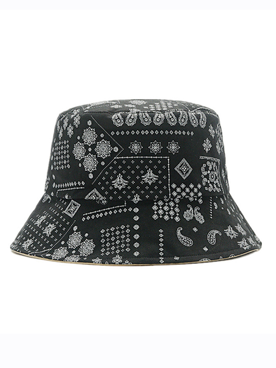 Double-sided graffiti fisherman hat