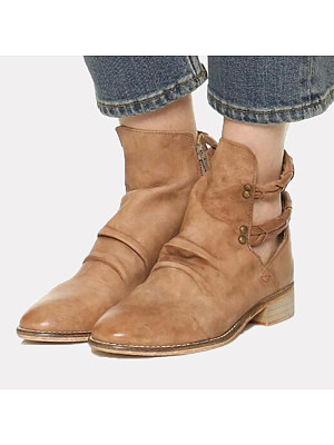 berrylook Casual and comfortable square heel women's boots