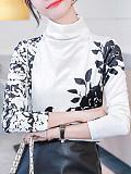Image of White Gold Velvet Bottoming Shirt