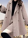 Image of Temperament mid-length woolen coat