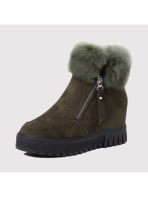 Casual plus velvet warmth increase snow boots, 9896751