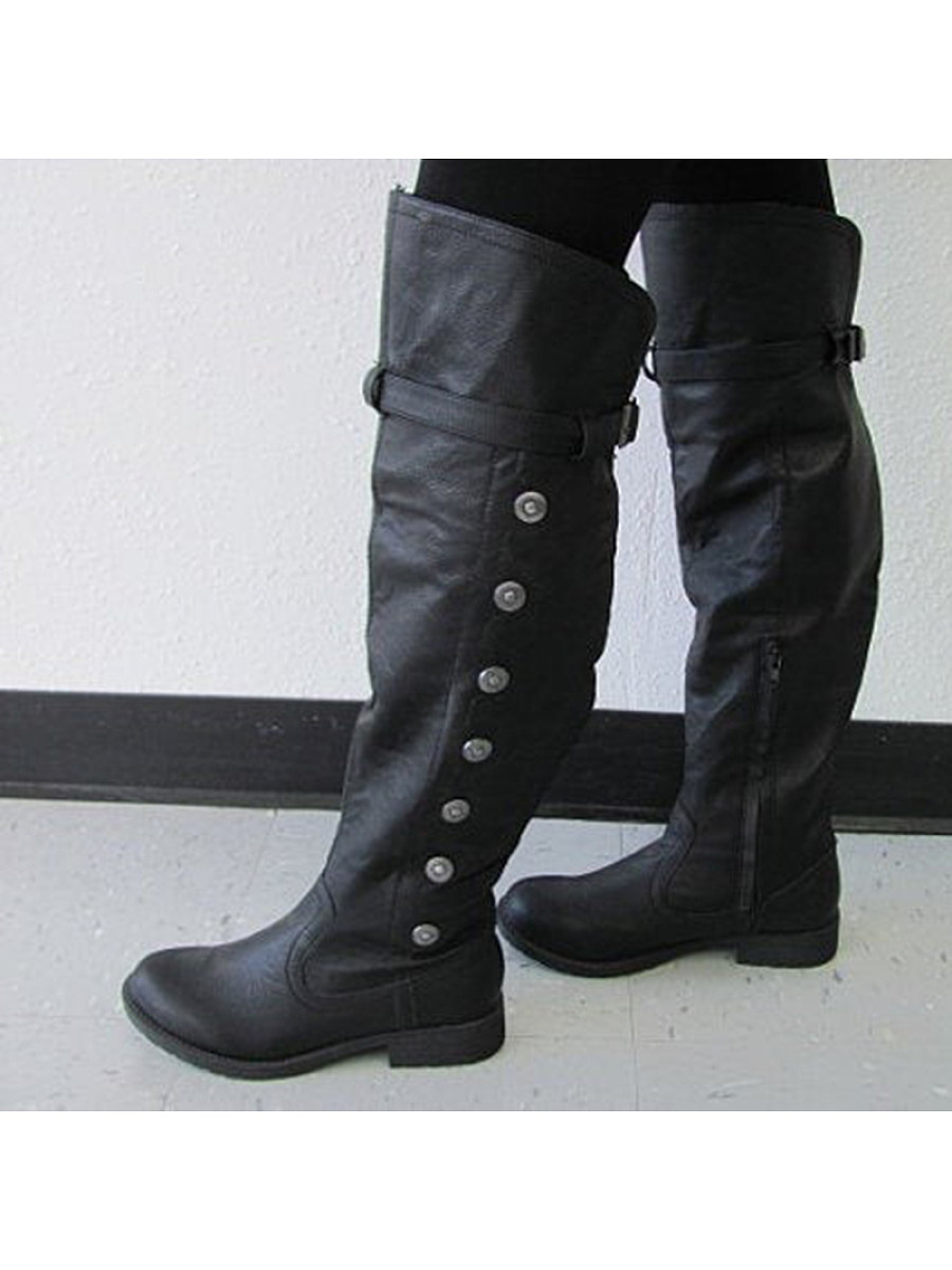 Retro round head rivet women's Boots - from $33.95