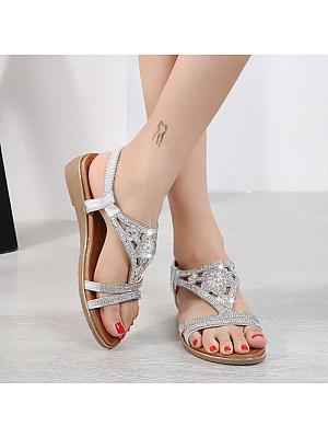 Berrylook Women Ethnic Rhinestone Flower Flat Sandals stores and shops, cheap online stores,
