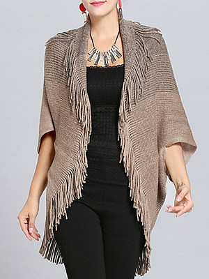 Gradient Color Short Sleeve Knit Cardigan